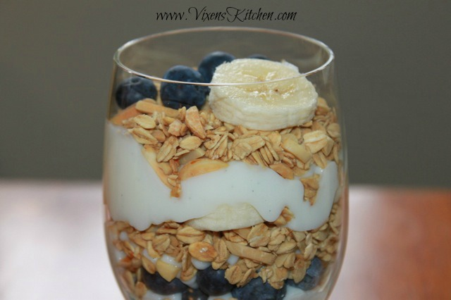 Vanilla Bean Yogurt Parfait with Homemade Granola