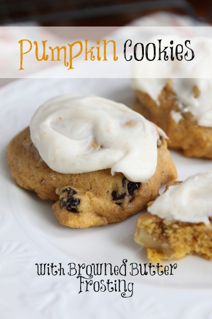 Pumpkin Cookies with Browned Butter Frosting | www.vixenskitchen.com