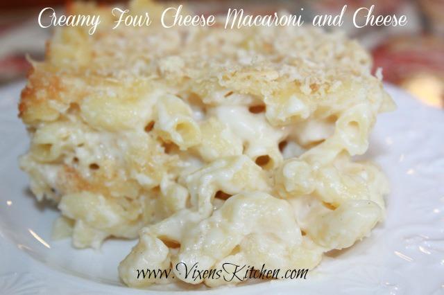 Creamy Four Cheese Macaroni And Cheese Vixen S Kitchen